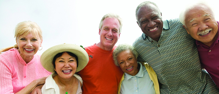 mixed group of older adults