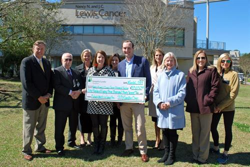 More than $182,000 will go to the Nancy N. and J.C. Lewis Cancer & Research Pavilion at St. Joseph's/Candler